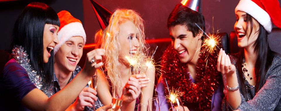 Festive disco party